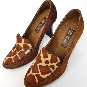 Aerosoles womens pumps size 8 brown animal print